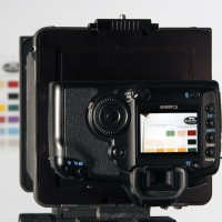 Photo of DSLR in use on Cambo camera with MultiStitch
